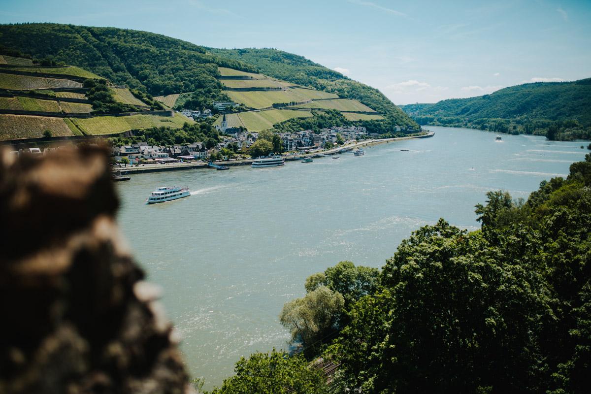 Blick auf Rhein